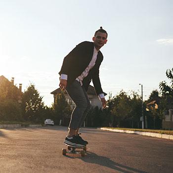 boy on a skateboard