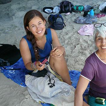shanti on the beach